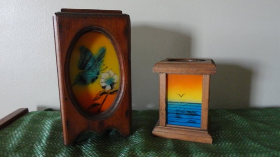 Sale Item Vintage Wooden Candle Holders With by tennesseehills, $8.00