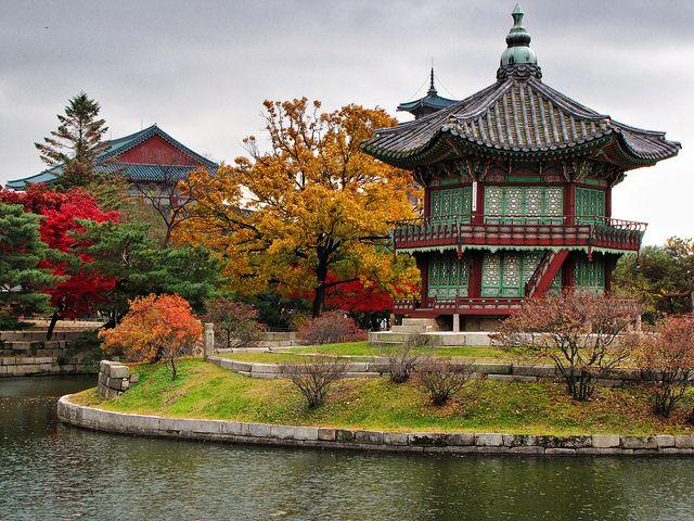 Pagoda-GyeongBokGung (경복궁) Palace-Seoul-South Korea    A pagoda at GyeongBokGung Palace in Seoul, South Korea