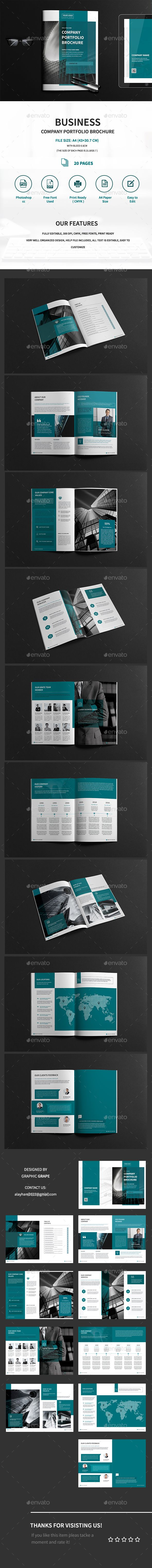 A4 Business Company Portfolio Brochure Template PSD. Download here: http://graphicriver.net/item/a4-business-company-portfolio-brochure-/15627841?ref=ksioks
