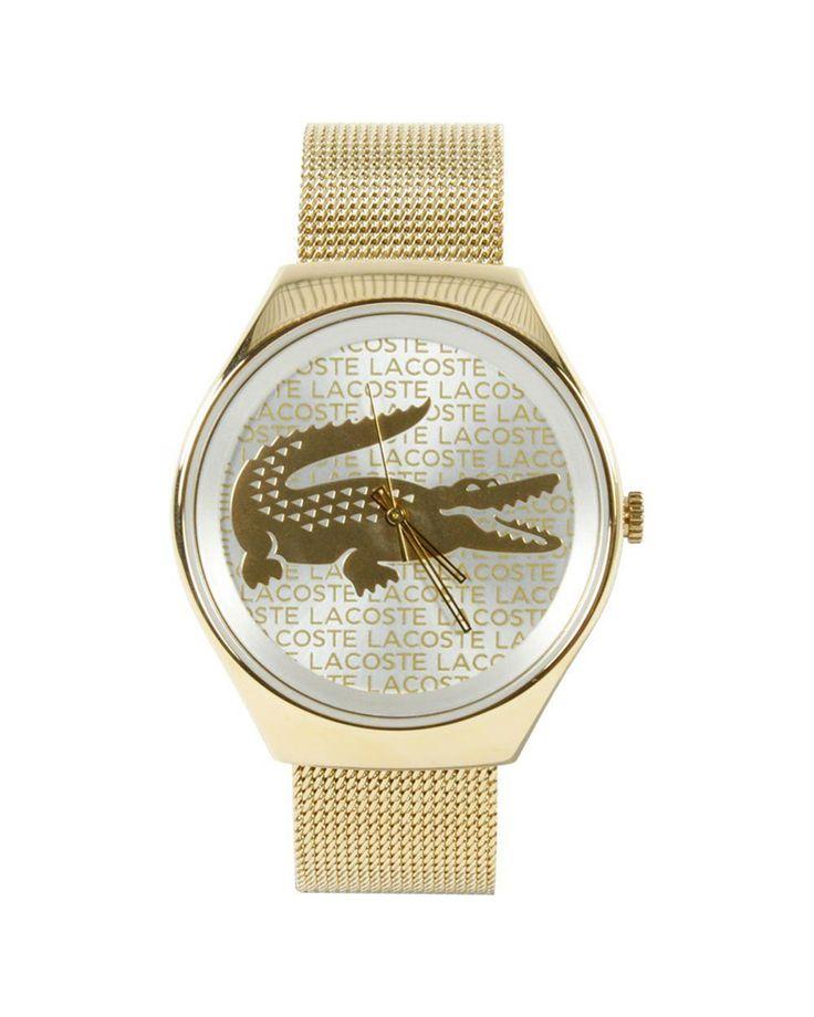 Reloj Valencia Lacoste para mujer: Caja de 40 mm. de diámetro de acero inoxidable chapado en oro. Correa de acero inoxidable chapado en oro. Movimiento Quartz. Resistencia al agua: 30m. Garantía de 24 meses
