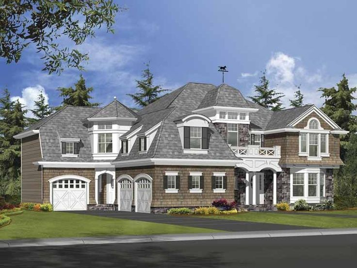 Craftsman House Plan with 6130 Square Feet and 6 Bedrooms from Dream Home Source | House Plan Code DHSW64052