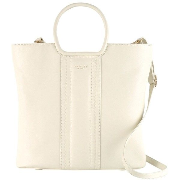 Radley Serpentine Large Leather Multiway Bag (36.575 HUF) ❤ liked on Polyvore featuring bags, handbags, shoulder bags, ivory, genuine leather purse, handbags shoulder bags, real leather handbags, shoulder handbags and radley handbags