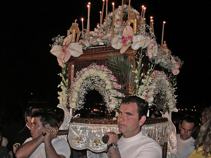 Επιταφιος ΥΔΡΑ     (The bier being taken around the streets on Good Friday on the island of Hydra.Celebrate Greek Orthodox Easter in Greece | Writing and Travel