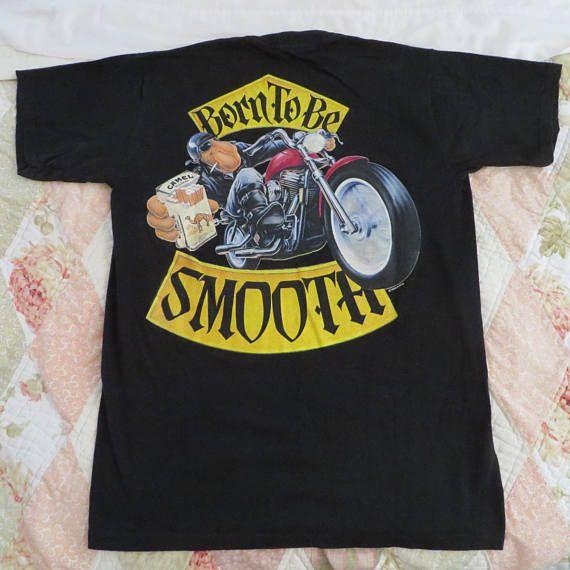 Joe Camel T-Shirt 1980s Vintage Tee Born to be Smooth Tee