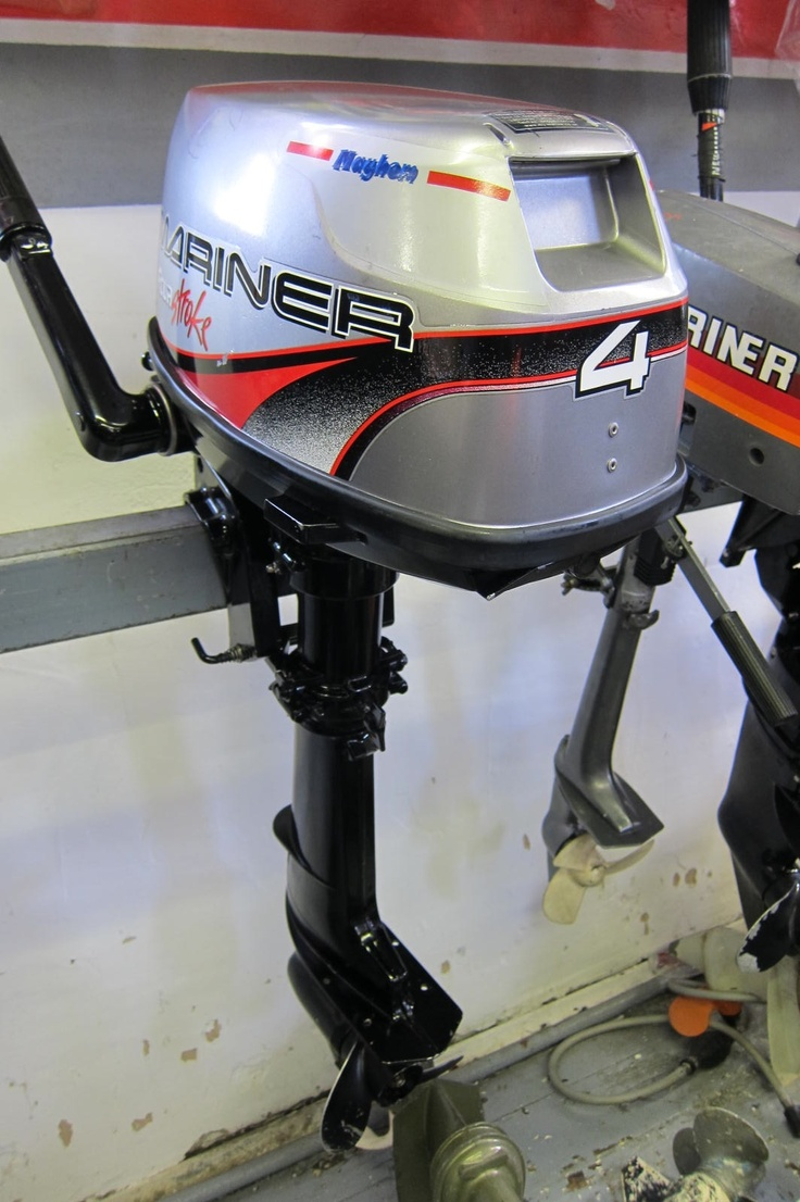 Mariner 4hp outboard for sale, second hand with low