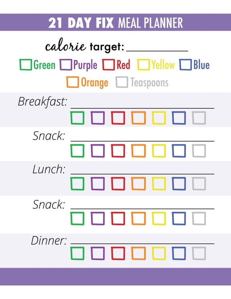 Simple to use 21 Day Fix Meal Planner and Tracker! Get our simple 21 Day Fix container calculator now!