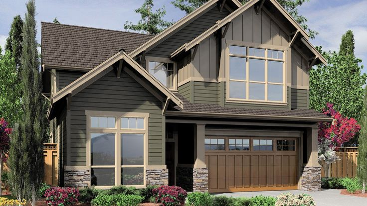Narrow Bungalow Plan with Tall Windows. Plan 22137F The Mansfield is a 2995 SqFt Craftsman style home plan featuring Den, Formal Dining Room, Media/Theater Room, Shop, Skylights, and Upstairs Utility Room by Alan Mascord Design Associates. View our entire house plan collection on Houseplans.co.