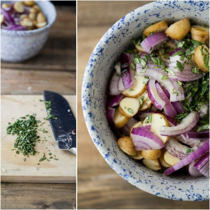 Roasted Potato, Onion, and Rosemary Crustless Quiche | Naturally Ella