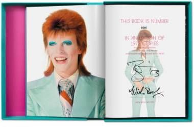 Mick Rock. David Bowie. Signed by David Bowie and Mick Rock