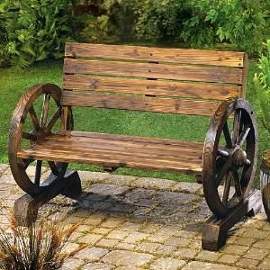 LoveSeat Outdoor Wagon Wheel Bench Super Cheap - Patio Armor Sf40293 by smoggyfront727
