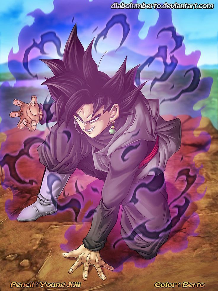Black goku 2 by diabolumberto