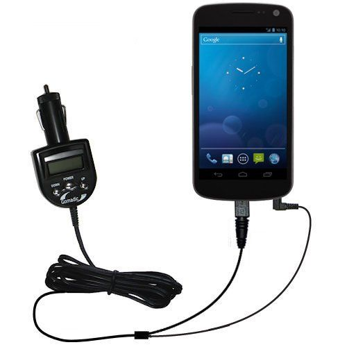2nd Generation Audio FM Transmitter and Car Vehicle Charger for the Samsung Galaxy Nexus CDMA - Uses Gomadic TipExchange Technology by Gomadic. $34.72. Our new and redesigned 2nd Generation FM Transmitter for the Samsung Galaxy Nexus CDMA will change the way you listen to music (and charge) in your vehicle forever! Imagine being able to listen to all the music on your Samsung Galaxy Nexus CDMA directly through your FM radio in the car. Not only will our FM Transmitter pipe you...