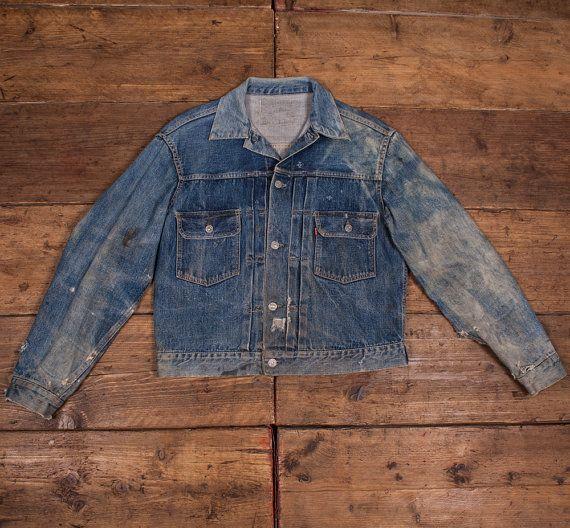 80077e97ffa Levis True Vintage  Type 2  Big E 507XX Denim Jacket. 1950 s. Size Medium  38
