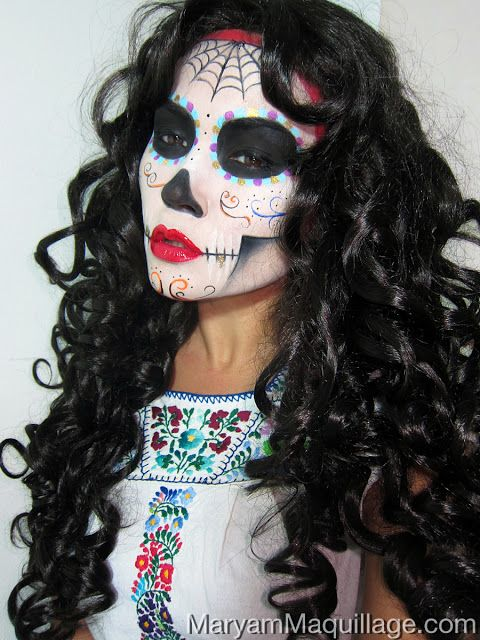 1000 images about calaveras day of the dead on pinterest storage boxes with lids skull - Maquillage dia de los muertos ...