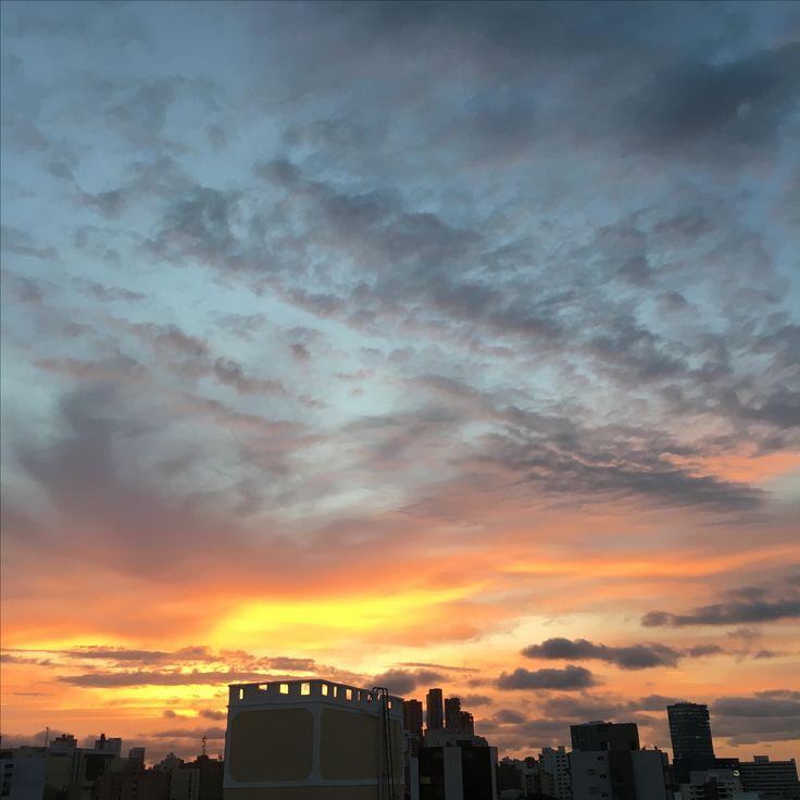 Barranquilla´s cotton candy sky