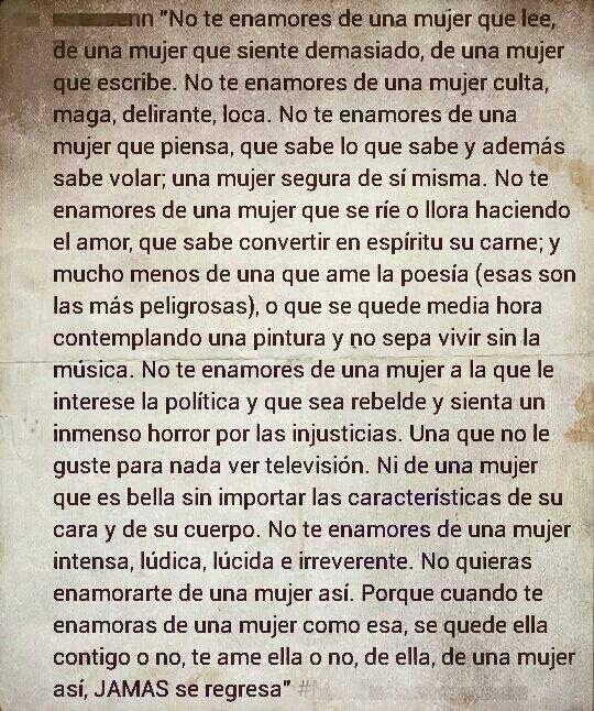 """""""No te enamores de una mujer que lee..."""" -Jaime Sabines-"""