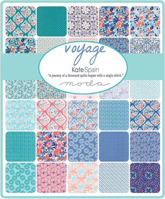 """/""""VOYAGE/"""" by Kate Spain for Moda 2 Charm Packs 42~ 5/"""" x 5/"""" each 100/% Cotton"""