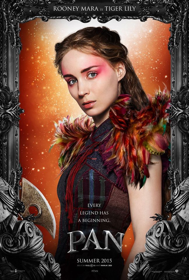 Pan 2015 movie - Rooney Mara as Tiger Lily! I really lover her buuuut not the best choice for tiger lily #lilyisanative
