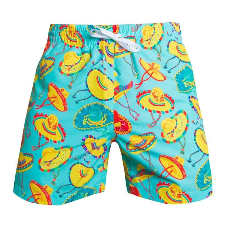 The South of the Borders | Chubbies Sombrero Swim Trunks