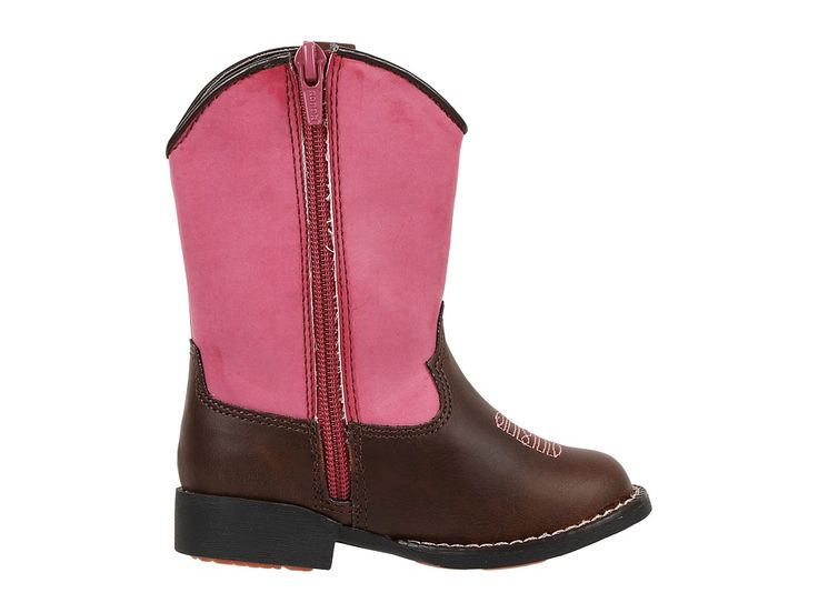 Roper Kids Western Lights Cowboy Boots (Toddler) Cowboy Boots Brown/Pink