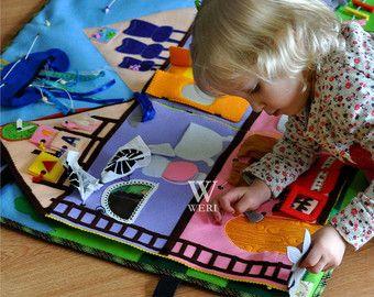 Big Developing Play Mat Felt Play Mat Activity Montessori by OpLia