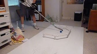 Homemade Hockey Practice Pad/Puck Rebounder - YouTube