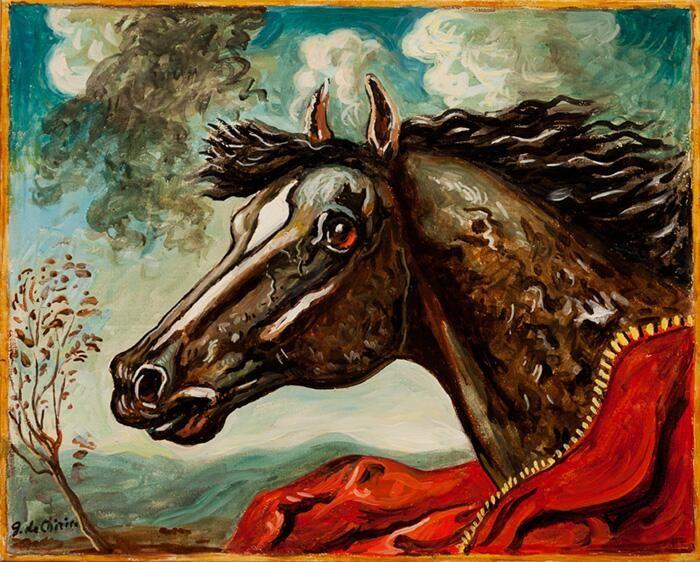 Giorgio De Chirico「Horses' Head」