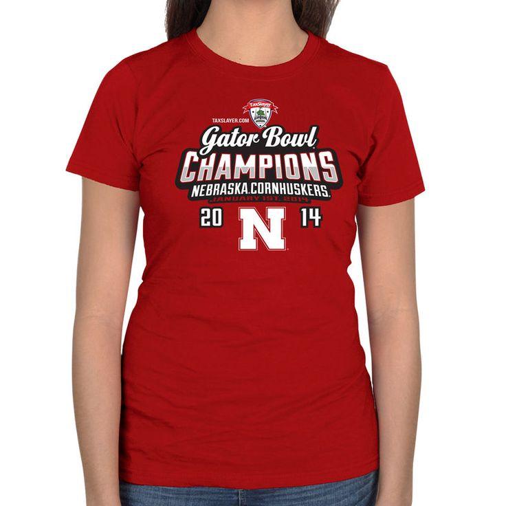 Nebraska Cornhuskers 2014 Gator Bowl Champions Women's Baby Bowl Champs T-Shirt - Scarlet