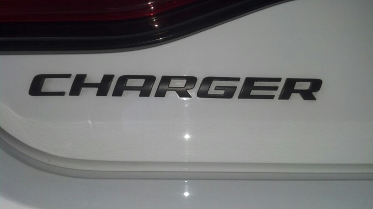 2012 Dodge Charger Plasti Dip Emblem Black With Spray Can