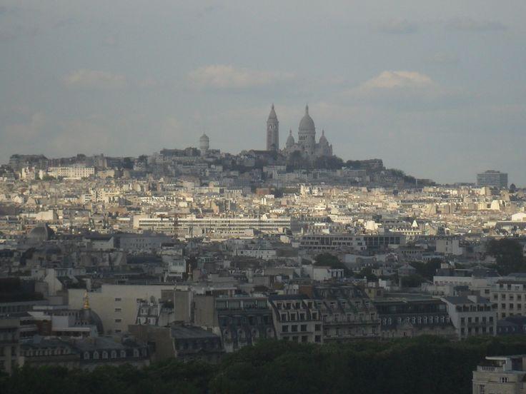 Paris, vue du premier ou deuxième étage de la Tour Effeil