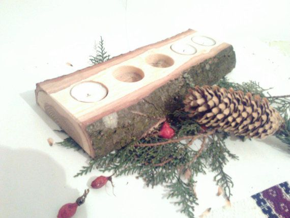 Hey, I found this really awesome Etsy listing at https://www.etsy.com/listing/260655225/half-log-candle-holder-for-5-candles