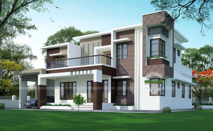 702 best house elevation indian images on pinterest home for Flat roof elevation