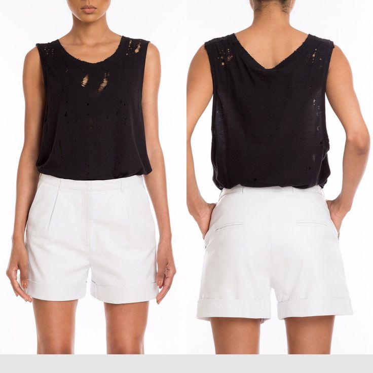 #Manokhi white leather shorts,available also in black on www.manokhi.com