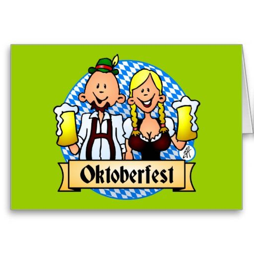 Oktoberfest Greeting Cards. #Zazzle #Cardvibes #Tekenaartje #SOLD