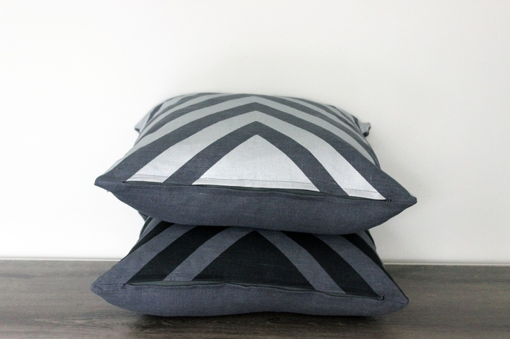 New intense colors of metallic black and silver on dark grey linen. Available on www.lempidesign.fi