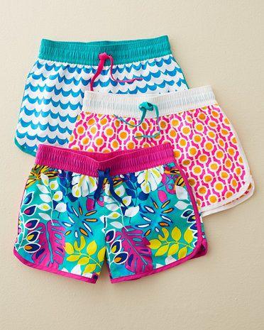 Seaside Board Shorts - Baby Girls & Girls $16.50 shorts for girls swimwear