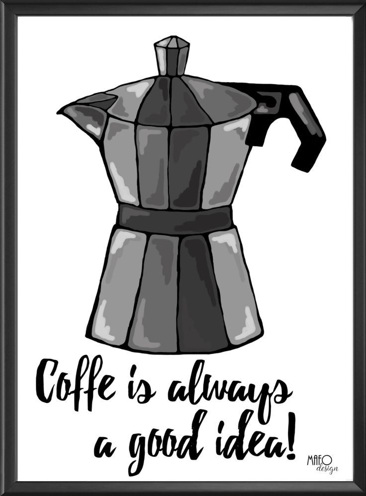 Plakat projektu MAFOdesign Kawiarka do kupienia tylko na www.mafodesign-sklep.pl #poster #design #coffeepot #interior #kitchen