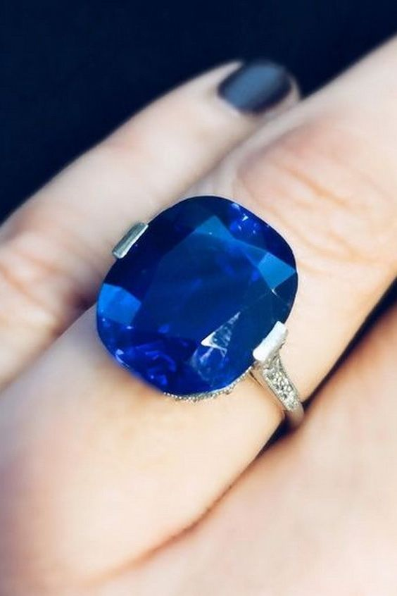 Of all the amazing sapphires in our Magnificent Jewels sale today, this Manice Kashmir sapphire ring is by far my favorite. Sold for $1.65 million.