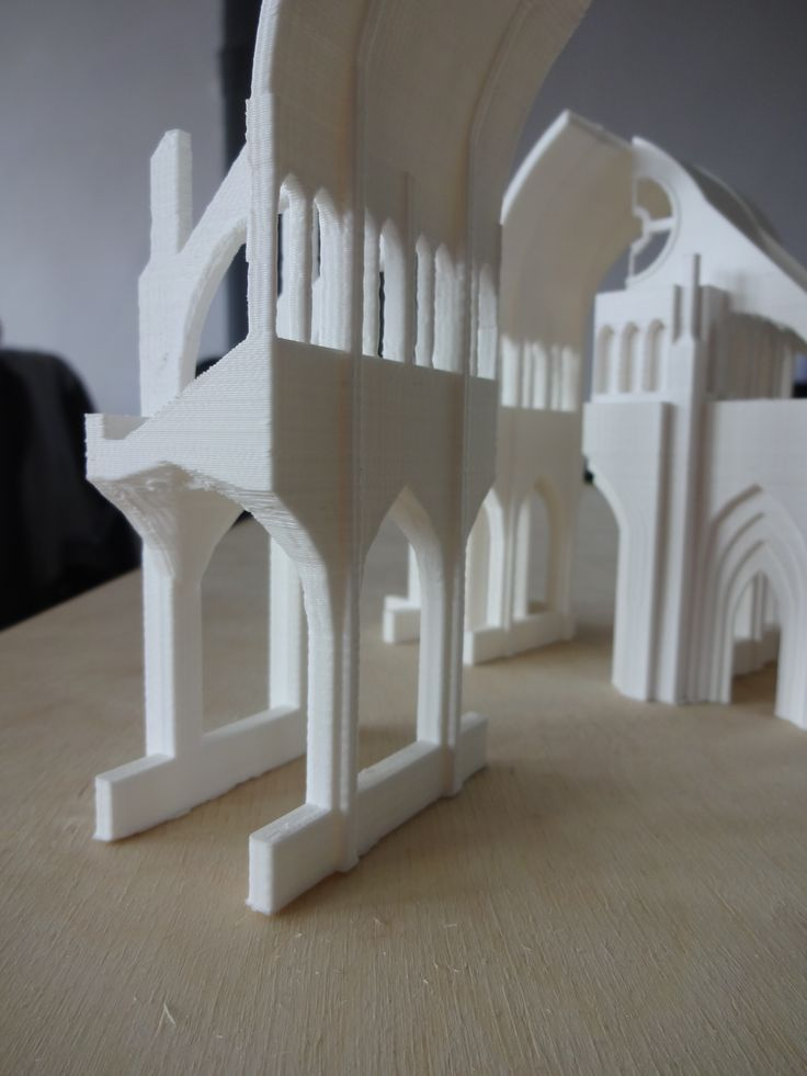 3d printed gothic cathedral, dat buttress #3dprint #pirxprinter #3dprinting