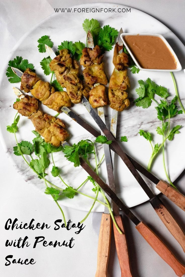 Chicken Satay With Peanut Sauce Recipe Global Eats Chicken