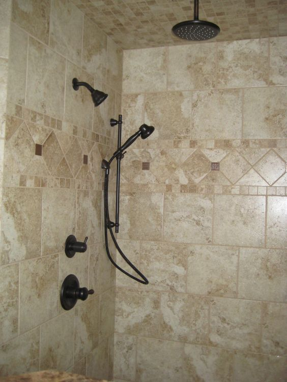 13 best Shower Border Designu0027s images on Pinterest Bathroom - home depot bathroom tile ideas