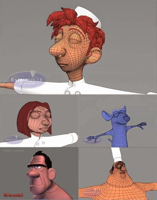Character Design Vimeo : From a pixar modeling reel of jonathan paine http