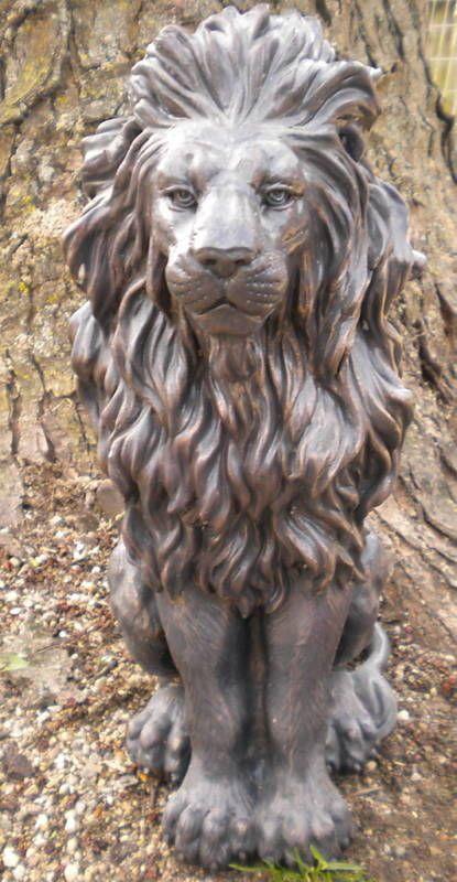 Gostatue Latex Only Lion Concrete Mold Plaster Mold Garden