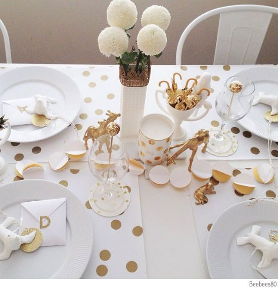 find this pin and more on ideas for merry christmas by kevinclecigne gold confetti wrapping paper table styling