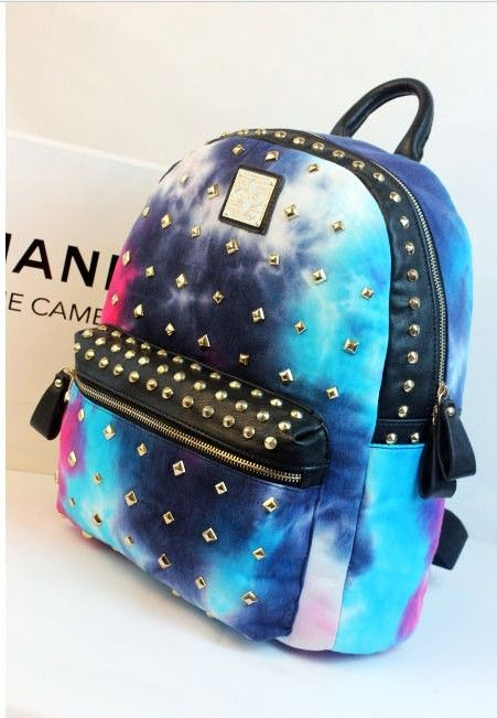 Galaxy Rivet Stud Neon Backpack