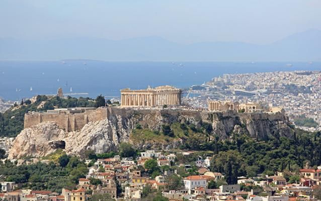 Athènes et l'Acropole, Grèce.