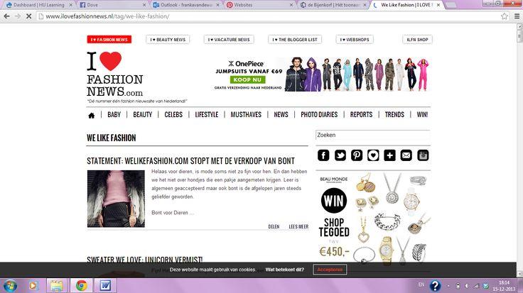 Franka - I love fashion news. Sterk: Duidelijke kopjes waaronder je informatie kan vinden. Zwak:Teveel plaatjes bij elkaar voor één pagina.