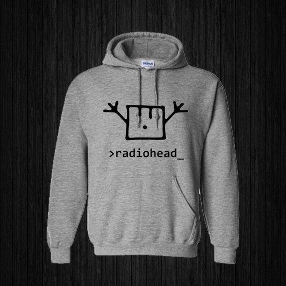 radiohead happy Hoodies Hoodie Sweatshirt Sweater by sijilbab13