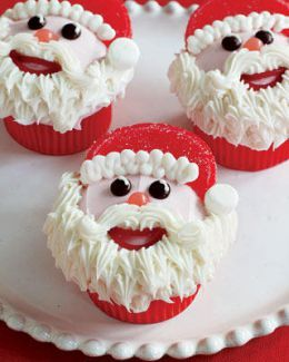 @KatieSheaDesign ❥ ♡❤♥ #Christmas #Cupcakes ❤♡♥ Santa Cupcakes