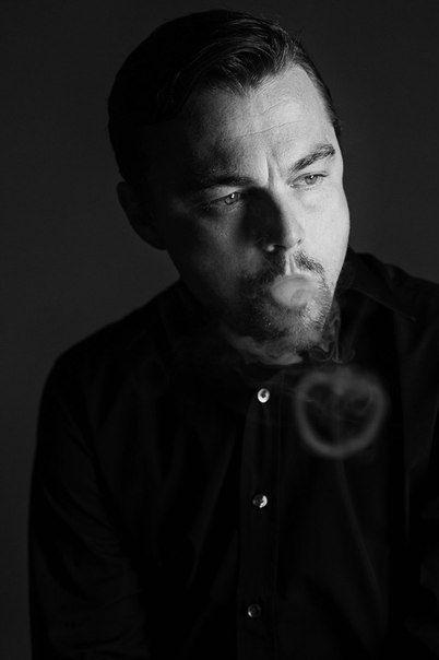 ♂Black and white photography man portrait Leonardo Di Caprio